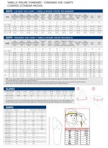 tabella misure 2017